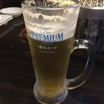 焼肉バル KAKI - 生ビール…あ〜美味しい!