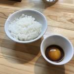 くろ松 - 雲丹醤油漬け卵黄ごはん