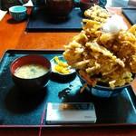 味処 旬風 - かき揚げ丼