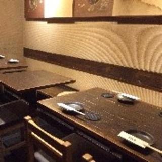 1階テーブル席:6名様~12名様(6卓、8卓)