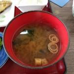 ひもの食堂 - 味噌汁