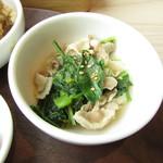 chano-ma - 青菜と豚肉の温かいお浸し