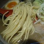 麺屋 音 - 中細ストレート麺