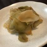 熊猫飯店 - 卓上の搾菜食べ放題⤴︎ ⤴︎                             主人が気に入っていました