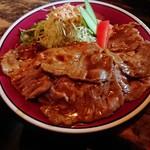 大坂屋 - 料理写真:生姜焼きの下にご飯が…。