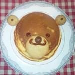 しろカフェ - 料理写真:くまさんパンケーキです。その日によって多少出来上がりが違います!!