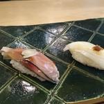 鮨處つの田 - しめ鯖、イカ(18-06)