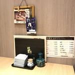 双葉寿司 - 卓上