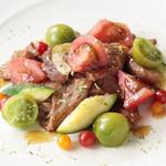 南国酒家 - (6/1~)国産 牛肉と彩りトマト、ズッキーニのガーリック・バジル仕立て