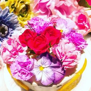 【人気No.1】お花畑のフラワーケーキ♪