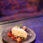 SUZU CAFE - 桃のレアチーズケーキ