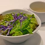 エミットフィッシュバー - サラダ、牡蠣スープ