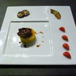 アクエリウムお台場 - フォアグラのステーキ焼きリゾット添えマルサラソース