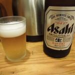 とんかつまるや - 瓶ビール(中)