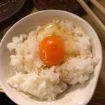 和洋酒菜 ひで - オレンジ色の卵かけごはん