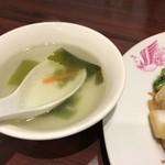 保昌 - 牛バラ肉焼きそばのスープ