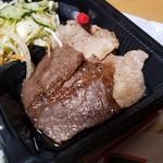 キズナ亭 - 「豚ロース」と「牛カルビ」がそれぞれ2枚ずつ