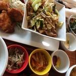 CAFEオヤジ - 料理写真:コンビプレート定食