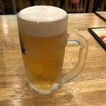 カラカラ - ドリンク写真:2018年5月27日  飲み放題の生ビール(麒麟淡麗)