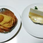 パティスリー ウチヤマ - モンブランエクレア、レアチーズケーキ