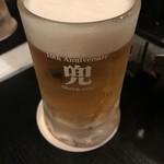 羊や カブト 本店 - 兜 生ビール
