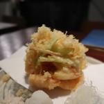 ふくや - かき揚げ天ぷらそば1800円