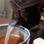 ふくや - 蕎麦湯