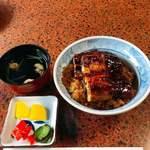 中六 - うなぎ丼 3切れ 1880円(税込)