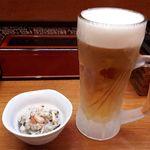 麺酒場 うめもと - 生ビール