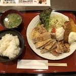 鉄板焼居酒屋 ゆう - ご飯・味噌汁つき
