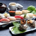 下高井戸 旭鮨総本店 - 料理写真:さざえつぼ焼きとにぎり鮨