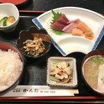 天ぷら かんだ - 刺身定食850円