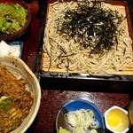 そば処 もりた屋 - 料理写真:ざるミニ丼セット  天丼