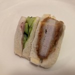 86732358 - カツ野菜サンド(ハーフ)