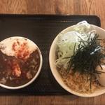 86736621 - 黒カレー肉蕎麦 中 1000円