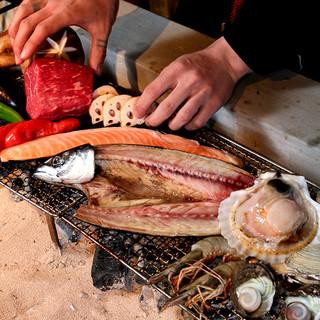 天然ものに拘った、旬の鮮魚や海鮮を