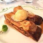 86737962 - デザートフレンチトースト自家製バニラアイスクリーム