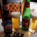 サンサール - ジャガイモを使ったネパリビールで乾杯!