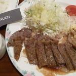 うすけぼー - 日替りランチ(サーロインステーキ)税込750円