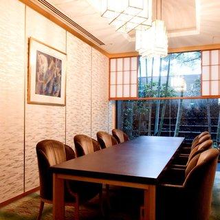 和洋4室の個室完備。上質な空間で特別なひとときを演出
