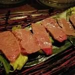 コトノハ・mog-mog食堂 - 本部牛霜降り炙りタタキ