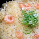 讃岐うどんの 七宝亭 - チビ天は瀬戸内海産の小海老のかき揚げです。