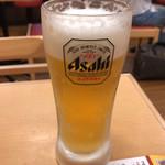 なか卯 - 生ビール 280円。