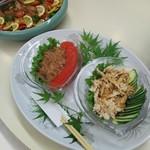 豊泉荘 - 中華クラゲ 棒棒鶏