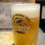 こっこ屋 - 生ビール キリン一番搾り(ちょい飲みセット)