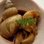 輝らく 伏見 - 白ばい貝の旨煮