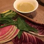 86761686 - 生野菜のサラダです