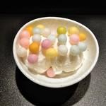 萠茶 - おいりバニラアイスクリーム