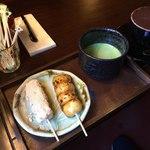 和茶房 うの - 料理写真:香取だんご 抹茶セット2色セット