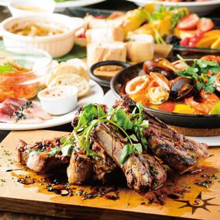 さつま知覧鶏など、九州特産のおいしい食材が目白押し
